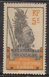 Gabon, Sc 49, MH, 1910, Fang Warrier