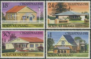 Norfolk Island 1981 SG265-268 Christmas churches set MNH