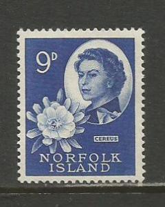 Norfolk Is.  #34  MLH  (1960)  c.v. $1.50