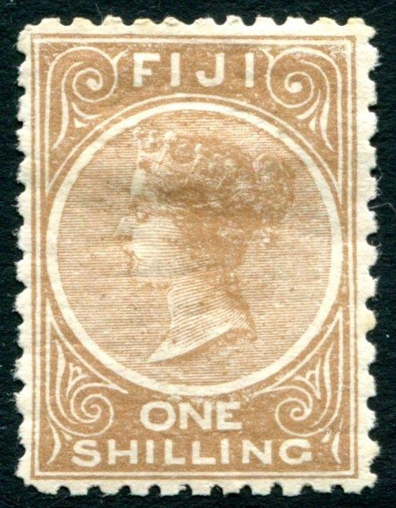 FIJI-1894 1/- Pale Brown Perf 11 X 10 Sg 65 AVERAGE MOUNTED MINT V22775