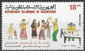Mauritania  628   MNH  WHO World Health Day