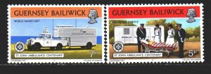 Guernsey. 1977. from the series 153-54. Ambulance, medicine. MNH.