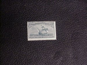 1893  FLAG SHIP OF COLUMBUS 3 CENT STAMP MINT/NH COLUMBUS EXPOSITION