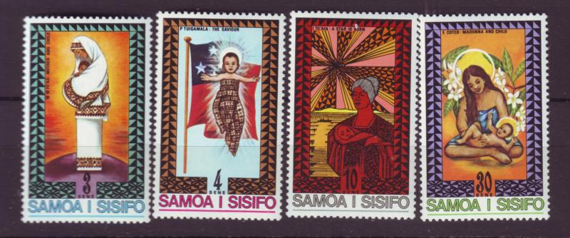 J29635 Jlstamps 1975 samoa set mnh #424-7 christmas