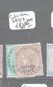 INDIA CHAMBA (P0604B) QV 1/2A, 1A  SG1-2  MOG