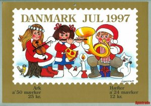 Denmark. Christmas Seal. 1997. 1 Post Office,Display,Advertising Sign.Cats,Music