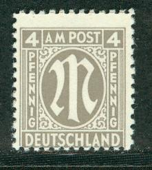 Germany AM Post Scott # 3N3a, mint nh