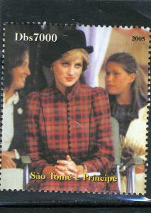 Sao Tome & Principe 2005 Princess DIANA set 1v Perforated Mint (NH)