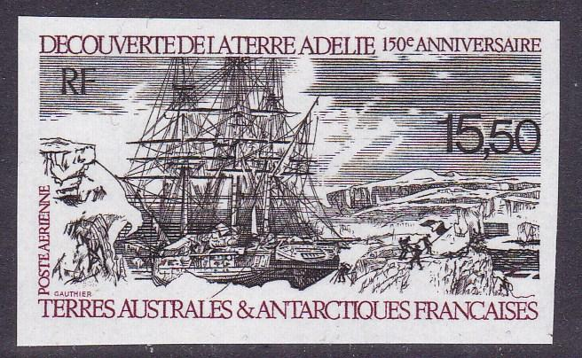 French Southern Antarctic Terr. 1990 15.50fr. Airmail C110 L'Astrolabe IMPERF NH