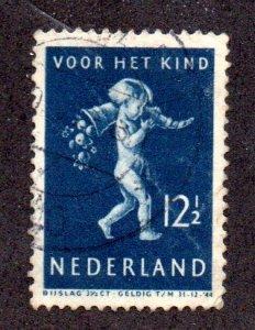 NETHERLANDS B122 USED SCV $1.00 BIN $.40 CHILD