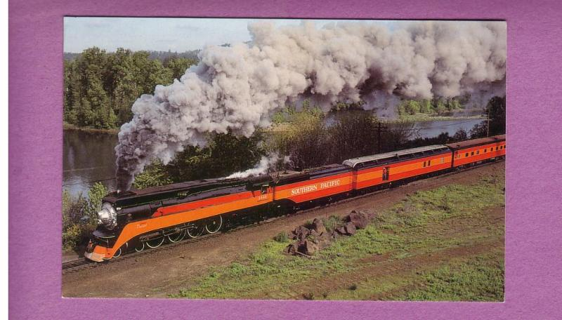 1984  Southern Pacific Daylight 4-8-4 Locomotive:4 P'Cards