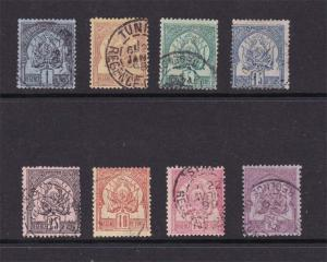 Tunisia 1888 Sc 1-8 set of 8 FU
