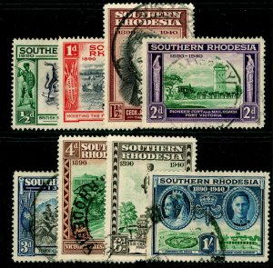 SOUTHERN RHODESIA SG53-60, COMPLETE SET, FINE USED. Cat £13.