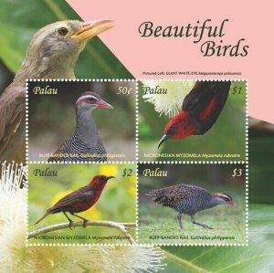 YEAR 2018-PALAU - BEAUTIFUL BIRDS   4V  complet set    MNH ** T