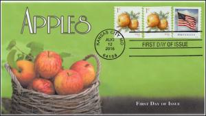 2016, Apples, First Day Cover, Basket of Apples, 1 cent, 16-264