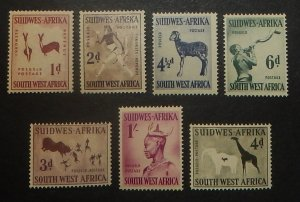 South West Africa 249-55. 1954 1p - 1/- Pictorials