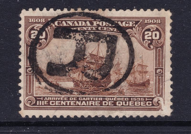 Canada a used 20c from the 1908 set