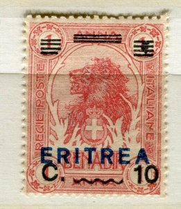 ITALY; ERITREA early 1900s pictorial Lion type 10c. mint hinged