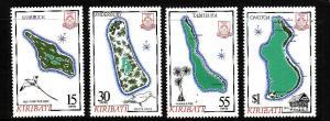 Kiribati-Sc#487-90-Unused NH set-Maps-1987-
