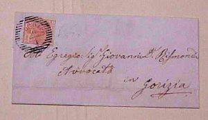 ITALY LOMBARDI V.  GODRDIVO #4 cat.$30.00  B/S GORZ 1854 JAN 12