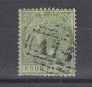Tobago QV 1880 4d SG10 Fine Used  J5917