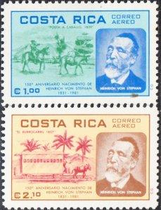 Costa Rica  #C830-C832   MH