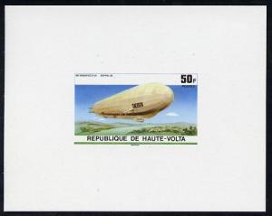 Upper Volta 1976 Zeppelin Airships 50f imperf deluxe proo...