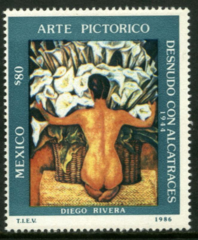 MEXICO 1452 Pictorial Art by Diego Rivera MNH