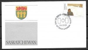 1984 Canada 1023 Canada Day: Sakatchewan FDC