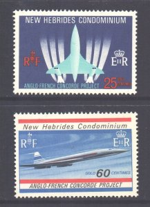 Vanuatu New Hebrides Scott 130/131 - SG133/134, 1968 Concorde Set MNH**