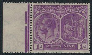 St, Kitts-Nevis #39* NH  CV $7.50