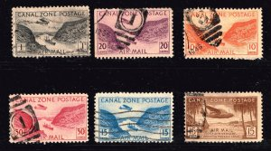 US STAMP Possessions CANAL ZONE AIR MAIL USED STAMPS COLLECTION LOT #2