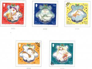 Isle of Man Sc 1008-12 2003 Christmas stamp set used