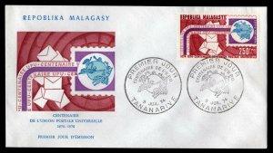 Malagasy Republic  - Sc #C129 -1974 UPU Centenary - Unaddressed First Day Cover