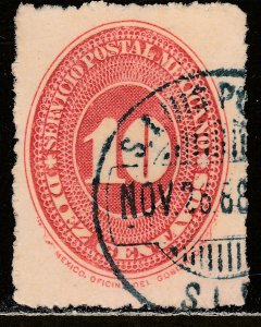 MEXICO 218, 10cts LARGE NUMERAL WATERMARKED, USED. F-VF, (135)