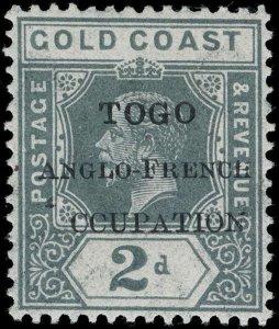 Togo Scott 68V5 Gibbons 36f Never Hinged Stamp