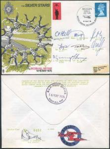 AD17d Silver Stars Biggin Hill Air Fair 14-16 May 1976 Signed by All 8 Members