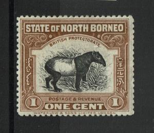North Borneo SG# 159, Mint Hinged, sm Hinge Rem, sm pencil mark on back - S1395