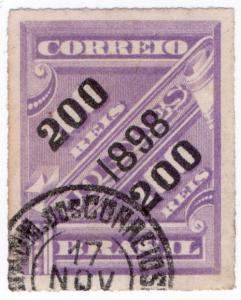 (I.B) Brazil Postal : Newspaper Post 200r on 100r OP