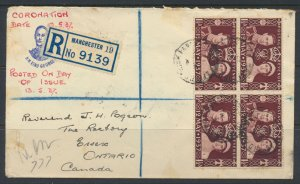GB 1937 Cover w/ SG 461 FDC to Canada see scans SC 234