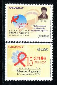 Paraguay 2844-2845, MNH, Marco Aguayo Foundation 15th Ann, 2007. x31093