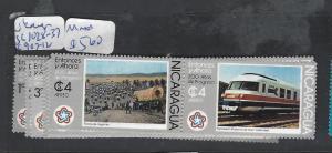 NICARAGUA (P1008B) TRAINS SC 1028-1037, C907-912   MNH