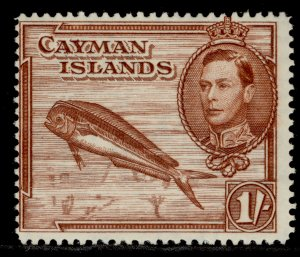 CAYMAN ISLANDS GVI SG123a, 1s red-brown, M MINT.