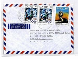 CM345 *ZAIRE* Missionary Air Mail MIVA Austria Cover