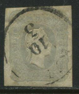 Austria 1861 Newspaper stamp 1 kreuzer gray used