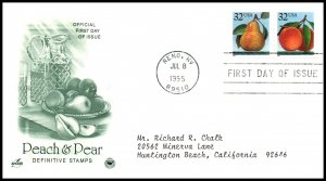 US 2488b Peach and Pear PCS Artcraft Variety Typed FDC