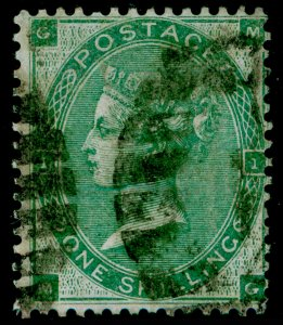 SG89, 1s deep green, USED. Cat £500. MG