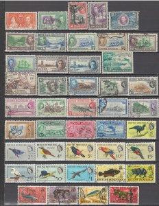 COLLECTION LOT OF # 931 BRITISH HONDURAS 43 STAMPS 1937+ CV +$31