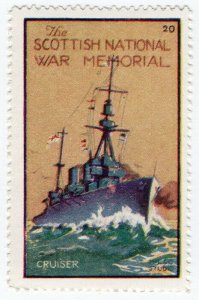 (I.B) Cinderella Collection : The Scottish War Memorial (Cruiser)