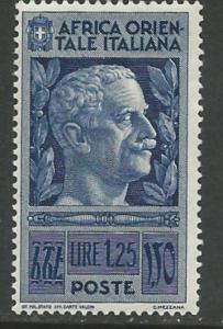 Italian East Africa # 13 Victor Emanuel III  (1) Unused VLH